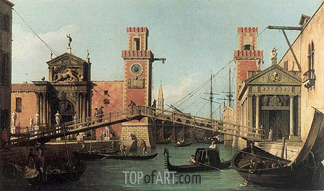 Entrance to the Arsenal, c.1732 | Canaletto| Painting Reproduction