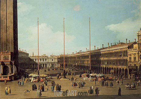 Piazza San Marco, Looking Towards San Geminiano, c.1735/40 | Canaletto | Gemälde Reproduktion