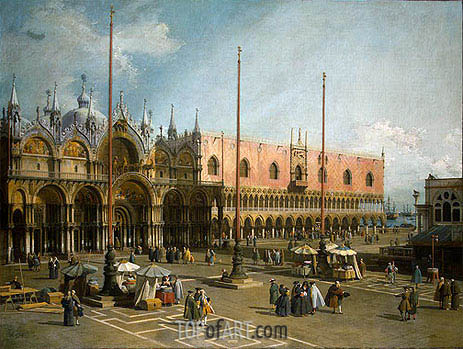 Piazza di San Marco, c.1735/40 | Canaletto| Painting Reproduction