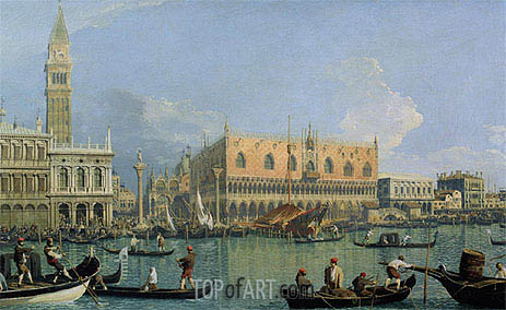 Canaletto | The Doge's Palace with the Piazza di San Marco, 1735