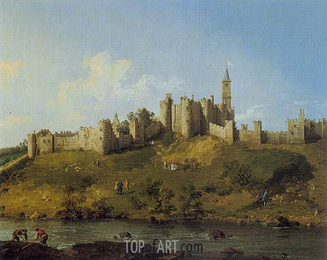 Alnwick Castle, 1746 | Canaletto| Painting Reproduction