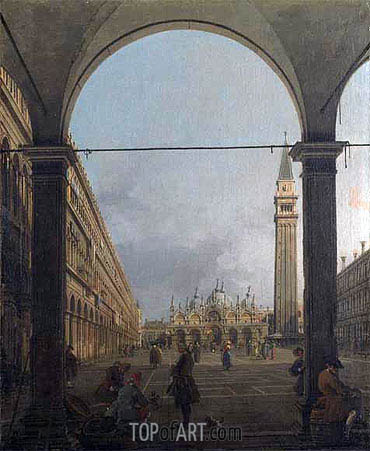 Canaletto | Piazza San Marco, Looking East, c.1756