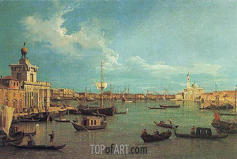 Venice: The Bacino from the Giudecca, c.1740 | Canaletto | Gemälde Reproduktion