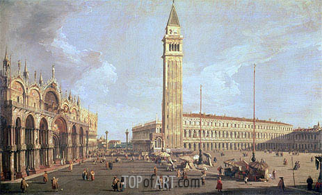 Towards San Marco, undated | Canaletto| Painting Reproduction