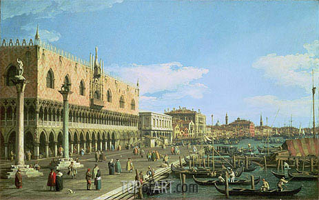 Venice: the Riva degli Schiavoni, c.1740/45 | Canaletto| Painting Reproduction