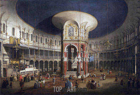Ranelagh Gardens, the Interior of the Rotunda, c.1751 | Canaletto| Painting Reproduction