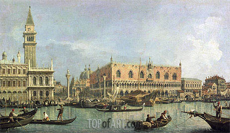 The Molo and the Piazzetta San Marco, Venice, undated | Canaletto | Painting Reproduction
