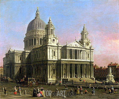 Saint Paul Cathedral, 1754 | Canaletto | Painting Reproduction