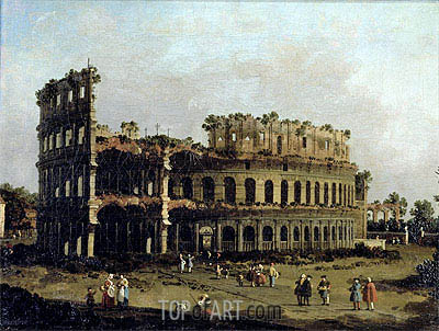 The Colosseum, undated | Canaletto| Painting Reproduction