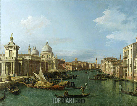 Entrance to the Grand Canal: Looking West, c.1738/42 | Canaletto| Painting Reproduction