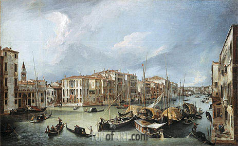 Canaletto | Grand Canal in Venice with the Rialto Bridge, c.1726/30