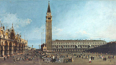 The Piazza di San Marco, Venice, c.1742/46 | Canaletto| Painting Reproduction