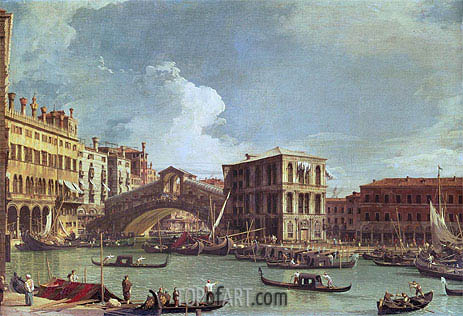 Canaletto | The Rialto Bridge, Venice, North, undated