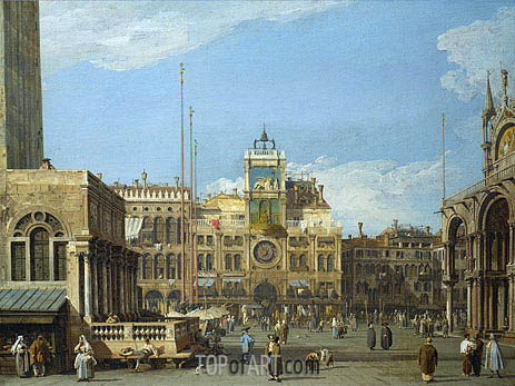 Canaletto | The Clock Tower in the Piazza San Marco, c.1728/30