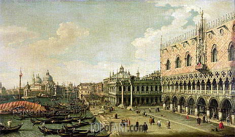 Canaletto | View of the Molo Looking Towards the Entrance of the Grand Canal, Venice, undated