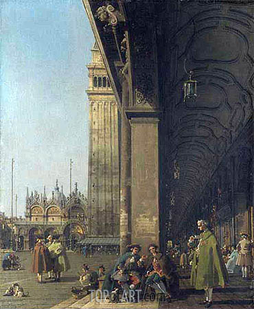 Canaletto | Piazza San Marco and the Colonnade, c.1756