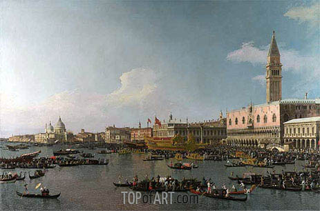 Venice: The Basin of San Marco on Ascension Day, c.1740 | Canaletto| Painting Reproduction