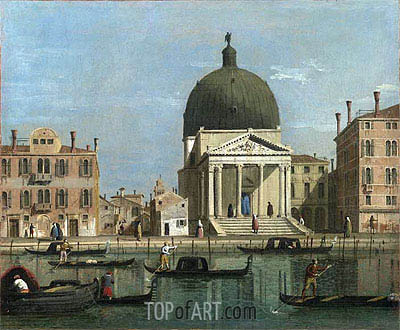 View of the Grand Canal, c.1738 | Canaletto| Painting Reproduction
