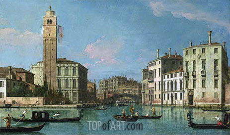Venice: Entrance to the Cannaregio, c.1734/42 | Canaletto| Painting Reproduction