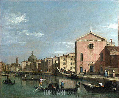 View of the Grand Canal, c.1738 | Canaletto| Gemälde Reproduktion