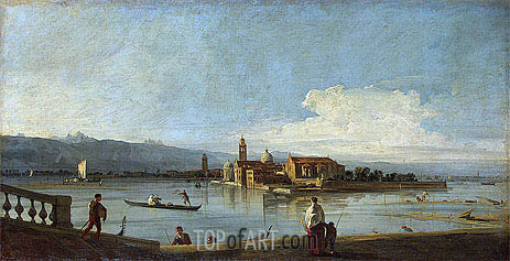 View of the Isles of San Michele, San Cristoforo and Murano from the Foundamenta Nuove, c.1725/28 | Canaletto| Painting Reproduction