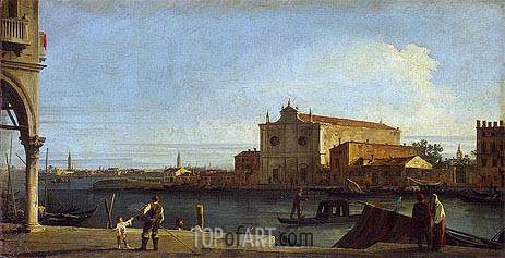 View of Church of San Giovanni dei Battuti on the Isle of Murano, c.1725/28 | Canaletto | Painting Reproduction