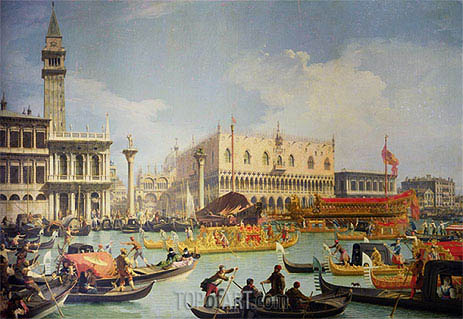 The Betrothal of the Venetian Doge to the Adriatic Sea, c.1739/30 | Canaletto| Painting Reproduction