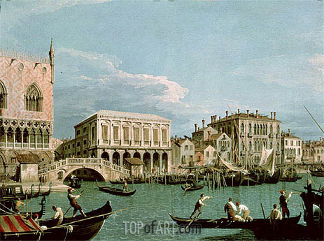 Bridge of Sighs, Venice (La Riva degli Schiavoni), c.1740 | Canaletto | Painting Reproduction