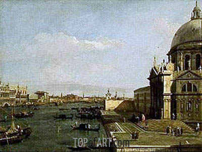 Venice: Entrance to the Grand Canal, Church of Santa Maria della Salute, undated | Canaletto | Painting Reproduction
