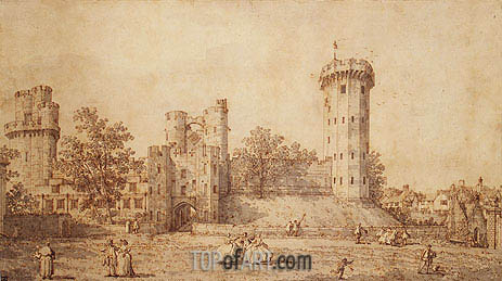 Warwick Castle: The East Front, 1752 | Canaletto | Painting Reproduction