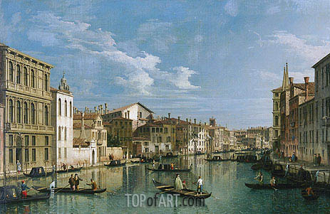 Grand Canal from Palazzo Flangini to Palazzo Bembo, c.1740 | Canaletto | Painting Reproduction