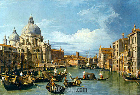 The Entrance to the Grand Canal, Venice, c.1730 | Canaletto| Painting Reproduction