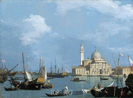 San Giorgio Maggiore: from the Bacino di St. Marco, c.1726/30 | Canaletto| Painting Reproduction