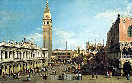 Canaletto | The Piazzetta, Venice, Looking North, c.1730/35