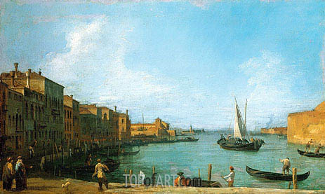 The Canale di Santa Chiara Looking North Towards the Lagoon, c.1723/24 | Canaletto| Painting Reproduction