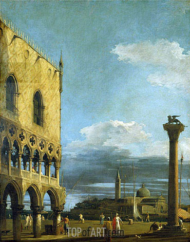 Venice: The Piazzetta Towards St. Giorgio Maggiore, c.1724 | Canaletto | Painting Reproduction