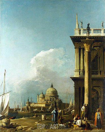 Canaletto | Venice: The Piazzetta towards St. Maria della Salute, c.1724