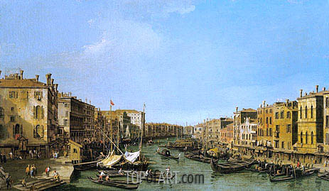 Canaletto | The Grand Canal Looking South-West from the Rialto to Ca' Foscari, c.1725/26