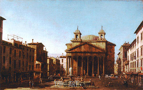 The Pantheon, c.1720 | Canaletto| Painting Reproduction