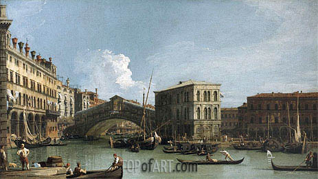 Rialto Bridge, c.1730 | Canaletto| Painting Reproduction