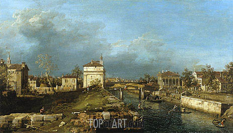 Porta Portello, Padua, c.1760 | Canaletto | Painting Reproduction