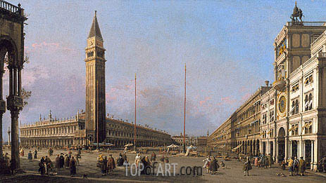 Piazza San Marco Looking South and West, 1763 | Canaletto| Painting Reproduction
