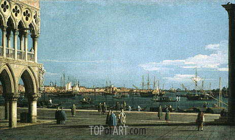 The Bacino di San Marco from the Piazzetta, undated | Canaletto | Gemälde Reproduktion
