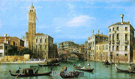 San Geremia and the Entrance to the Cannaregio, c.1726/27 | Canaletto | Painting Reproduction
