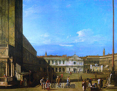 Venice: Piazza San Marco towards San Geminiano, c.1726/28 | Canaletto| Painting Reproduction