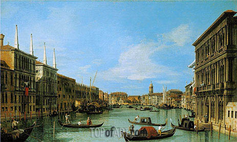 Canaletto | The Grand Canal Looking West from Palazzo Vendramin-Calergi towards San Geremia, c.1727/28