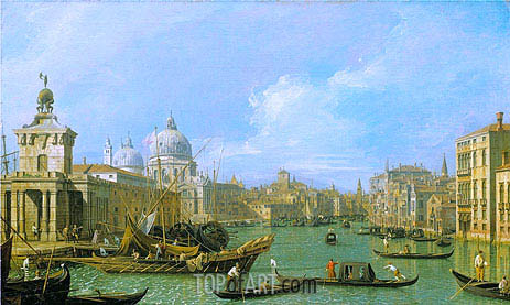 The Mouth of the Grand Canal Looking West towards the Carita, c.1729/30 | Canaletto | Painting Reproduction