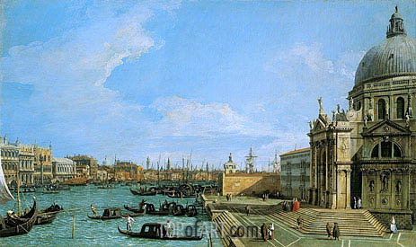 The Grand Canal Looking towards the Riva degli Schiavoni, c.1729/30 | Canaletto| Painting Reproduction