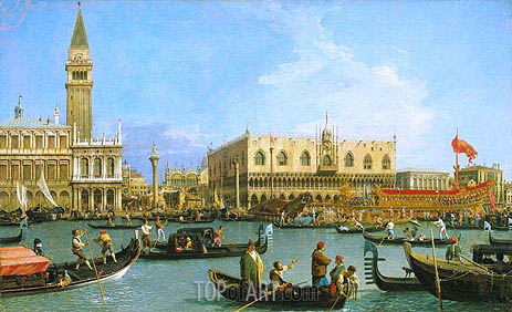 The Bacino di San Marco on Ascension Day, c.1733/34 | Canaletto | Painting Reproduction