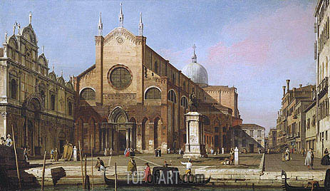Venice: The Campo SS. Giovanni e Paolo, c.1738 | Canaletto | Painting Reproduction